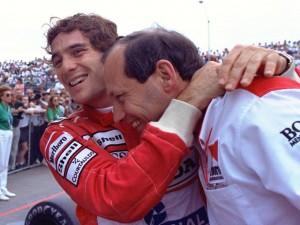 Senna e Ron Dennis: era só alegria