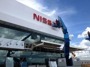 Obras da F‡brica da Nissan em Resende (RJ) seguem progredindo e