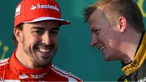 Alonso e Kimi: será que rola um clima?