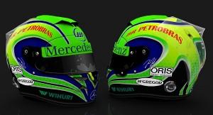 O capacete de Felipinho Massa para a temporada de 2014. Logo da Petrobrás garantido!