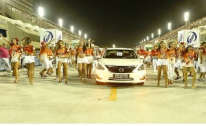Carros da Nissan participam com o Salgueiro do Ensaio Geral do C