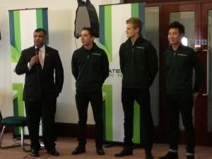 Tony Fervnandez e seu trio de pilotos de peso