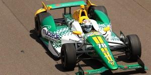 Simona em ação na IndyCar