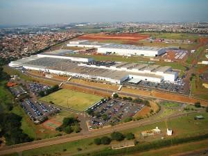 Vista área da fábrica de Sumaré da Honda