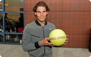 Rafel Nadal, o número um  da ATP, confirmou presença
