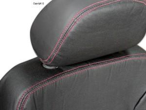Detalhe da capa de couro para VW Gol