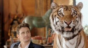 O ilustre convidado de James Franco: o tigre de bengala