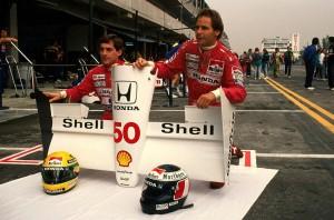 Senna e Berger; dois grandes companheiros