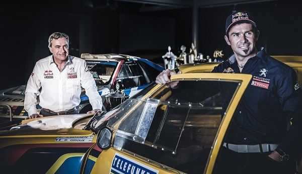A equipe Peugeot  terá Carlos Sainz e Cyril Despres