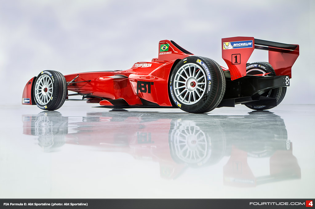 O carro de Di Grassi da Audi Sport ABT Fórmula E Team.