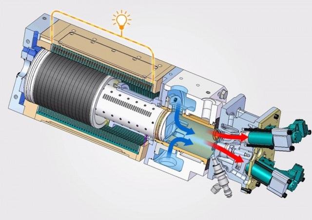 Desenho do motor.
