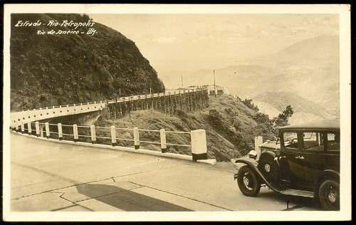 1ª estrada pavimentada, a Rio-Petropolis
