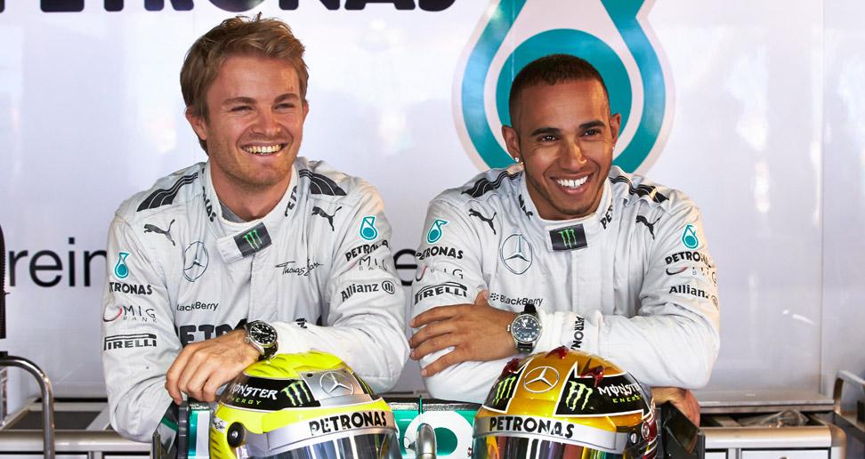 A dupla da Mercedes: um dos dois sempre ganha!
