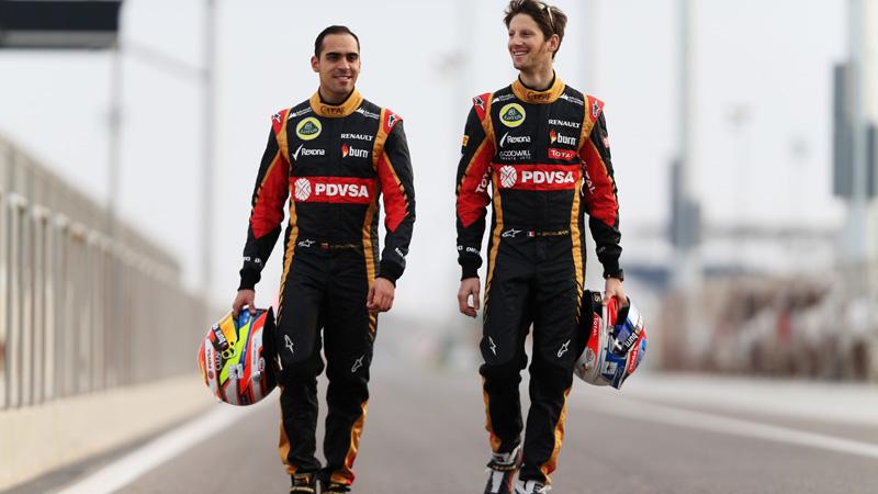 Pastor Maldonado e Romain Grosjean: bons tempos em Barcelona