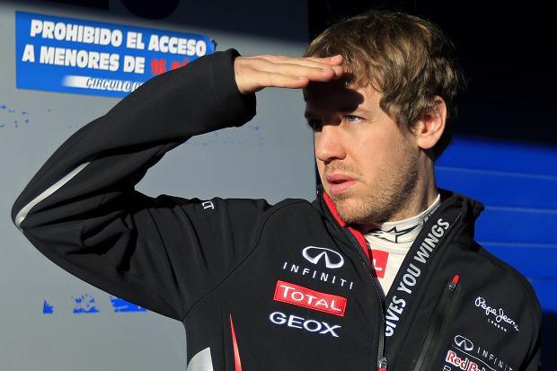 Vettel está vendo os adversários de longe...