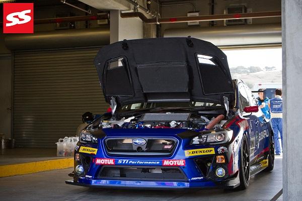 subaru-wrx-sti-nbr-challenge-2014-hood-popped-in-garage