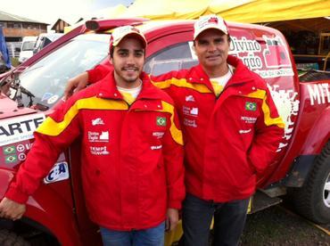 Rodrigo e seu pai Reinaldo Varela.