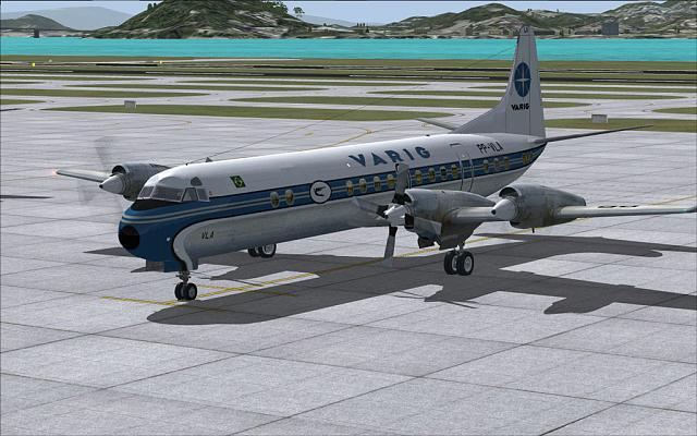 O avião Lockheed L-188 Electra, usado durante muitos anos no trecho Rio/São Paulo.