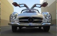 Mercedes 300 SL Gull Wing. Se és e tens, é a hora