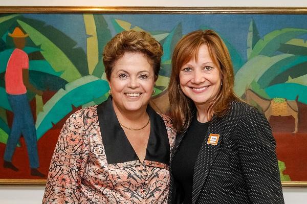 Encontro de peso: Dilma e Mary Barra, CEO da GM.
