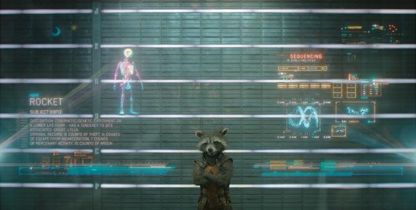 Rocket, o guaxinim atirador que tem a voz de Bradley Cooper