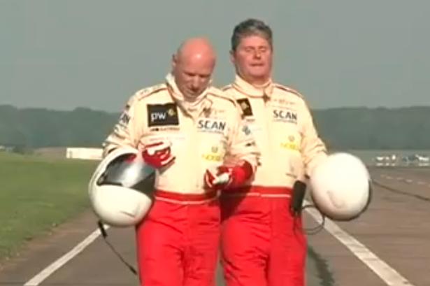 Michael e Mike; pai e filho em busca de mais um recorde mundial.
