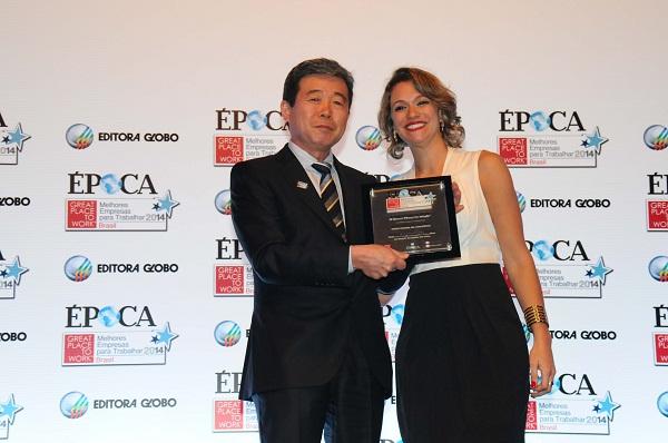 Issao Mizoguchi recebe o prêmio