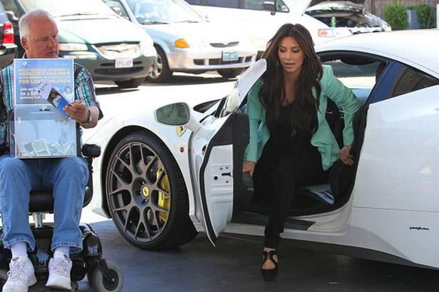 Kim Kardashian New Ferrari