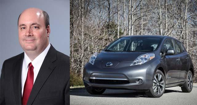 Toby Perry e o Nissan Leaf