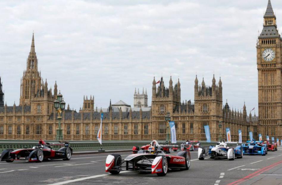 Teste pré-temporada da Fórmula E nas ruas de Londres