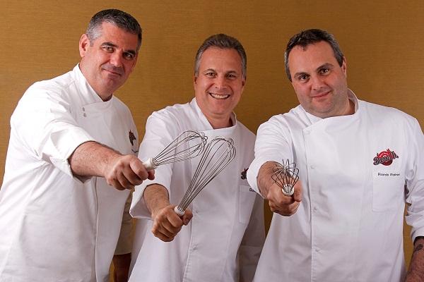 Ricardo Masironi, Anselmo Vicentini  e Guina Masironi Júnior: os chefs responsáveis pelo BuraCo.