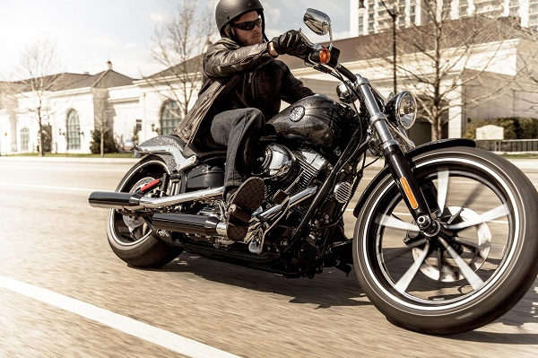 Rider on Softail Breakout