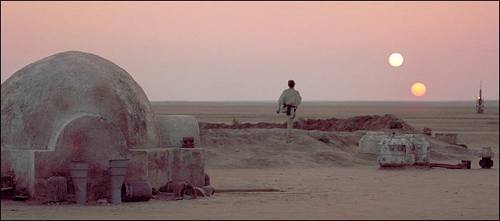 O planeta Tatooine, um dos destaques do Star Wars Experience