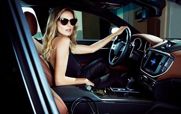 Heidi Klum no seu Maserati