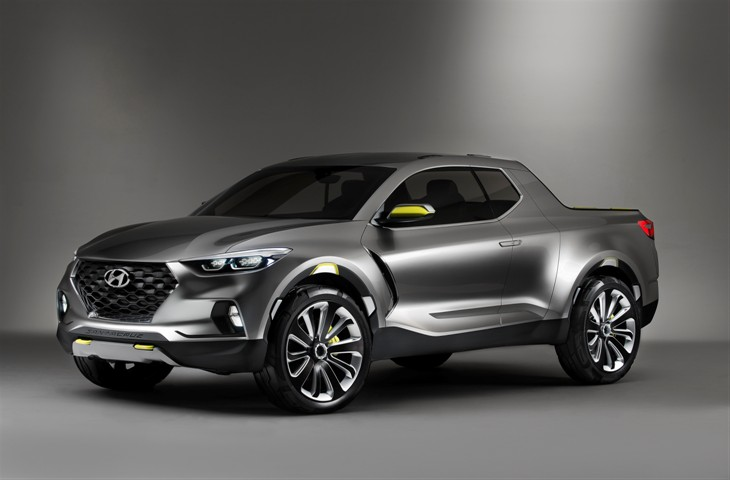 Hyundai Santa Cruz. Automóvel, grande porta malas aberto