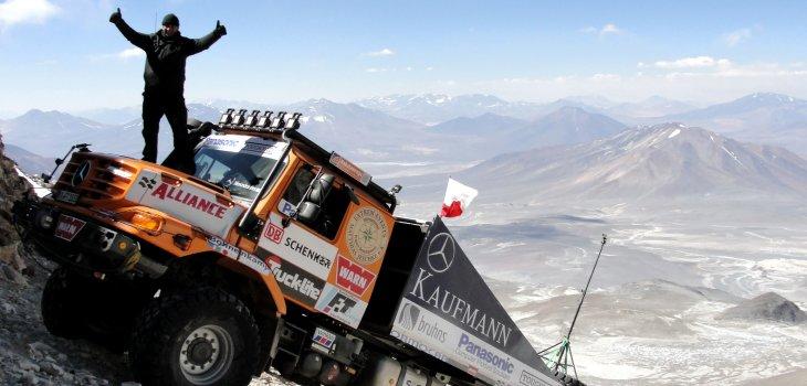 O recordista Mercedes Zetros no Ojo del Salado, a 6.706m de altitude