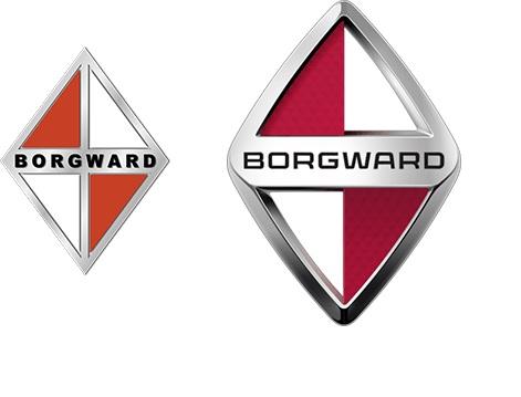 Borgward. Logo. Falta o automóvel