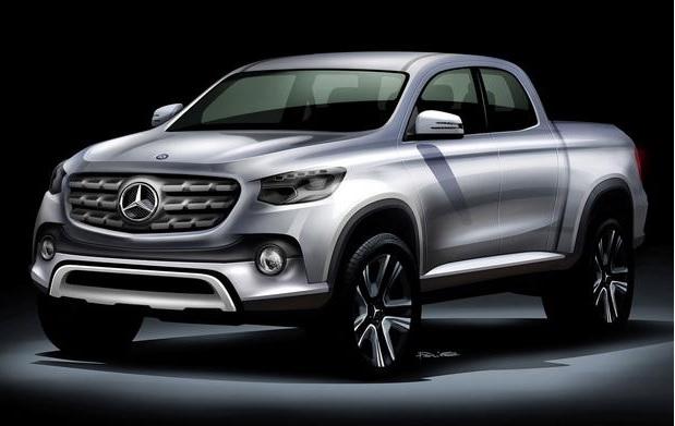 Tentativa proposta para o picape Mercedes