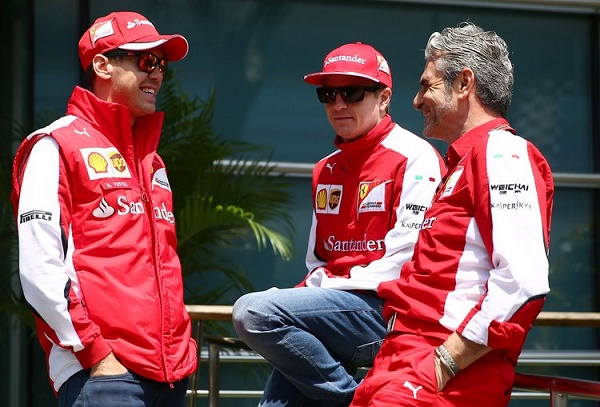 Arrivabene está feliz com a dupla Vettel e Raikkonen